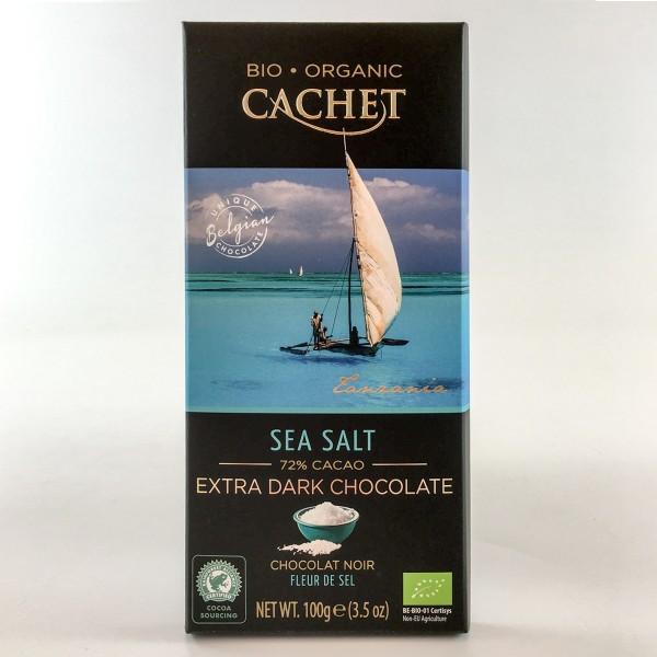 Bio-Organic Cachet Sea Salt 72% Cacao