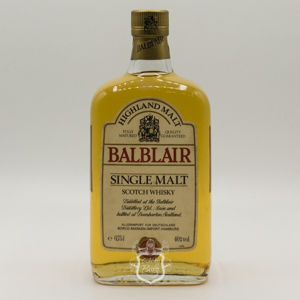 Balblair Clear rectangular bottle