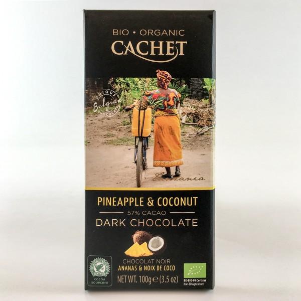 Bio-Organic Cachet Pineapple & Coconut 57% Cacao