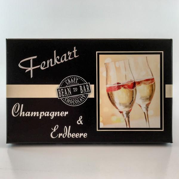 Fenkart Tafelschokolade Champagner & Erdbeere