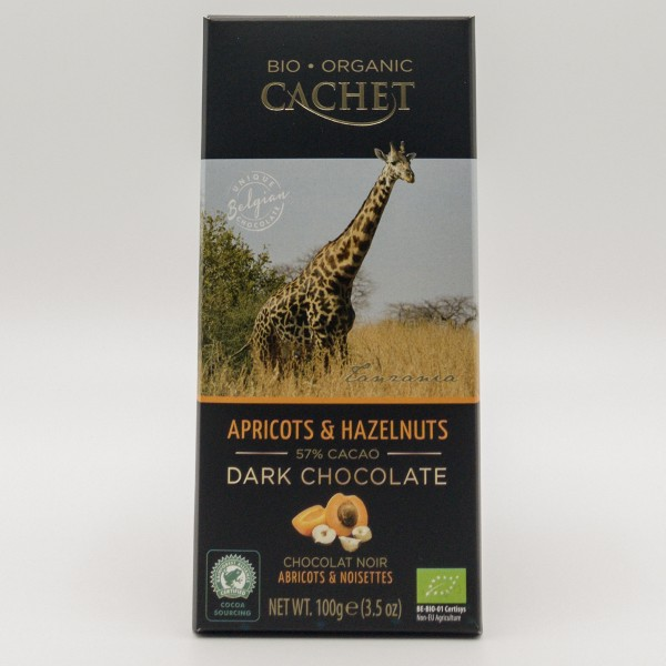 Bio Organic Cachet Apricots & Hazelnuts 57% Cacao